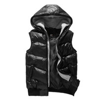 Wholesale Hot Classic fashion Xiyatu Mens Cotton down Vest outwear Warm Hat British winter Handsome cols