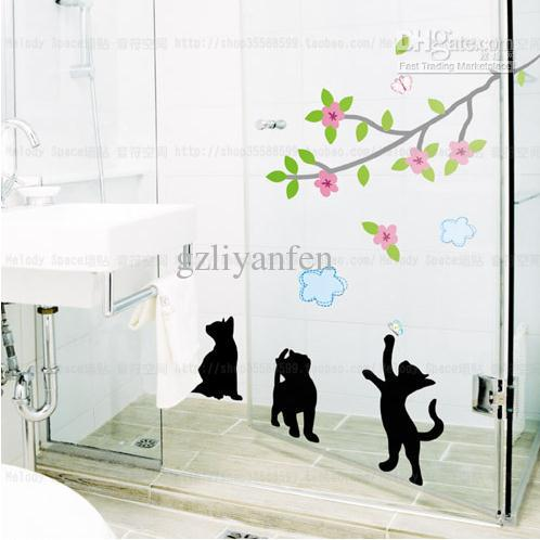 Playing Cat Home Room Decor Removable Wall Sticker Decal Decoration B40147