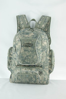 Wholesale multifunctional outdoor sports military camo backpack with two front pockets and two side pockets