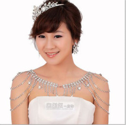 Wholesale Bridal Jewelry Necklaces Crystal Shoulder Shawl Party Prom Evenig Bride New Wedding Accessories