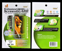 Wholesale 100pcs Clear Screen protector in Retail Package For Nokia Lumia Good Quality