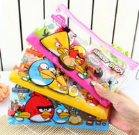 Wholesale ser Bird Pencil Case Bag Box Party Favor School Stationery Set Kid Gift pencils sharpener Pencil bag Ruler Eraser