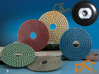 Wholesale 7pc quot Diamond Polishing Pads Wet and Dry Set amp Backer Pad Granite Concrete