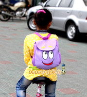 Wholesale Dora the Explorer BackpackMr Face Plush Backpack Shool Bag Purple Toddler Size New Retail