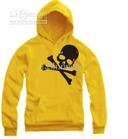 Wholesale 2012 Halloween Winter Mens Womens Skeleton Skull Cotton Round Neck Couple Hooded Sweatshirt