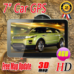 Wholesale Best quality inch car GPS Navigation Bluetooth AV IN FM Ebook MTK DDR128M HD Wince6 GB load new D map by DHL free