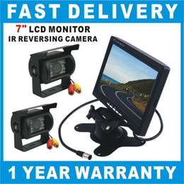 "Car Rear View Kit 7"" LCD Monitor+2X IR Reversing Camera NEW Car Kit"