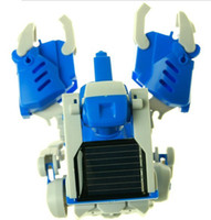 Wholesale Hot Sell New Factory Toys in Solar Creative Product DIY Assembled Toy Robot Deformation