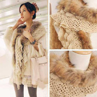 Wholesale New Fashion Winter Women Ladies Super Long Raccoon Hair Fur Warm Scarf FREE SH