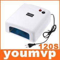 Wholesale 36W V Gel Curing Nail UV Lamp Polish Dryer with W UV Light Bulb