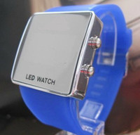 Wholesale Hot Sales For Watch Men s Women s Mens Ladies Led Electronic Candy Jelly Mirror Watches