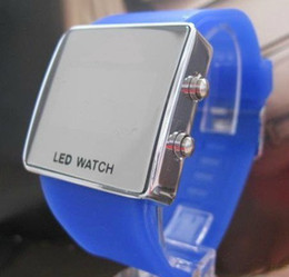 Wholesale Hot Sales For Adidas Watch Men s Women s Mens Ladies Led Electronic Candy Jelly Mirror Watches