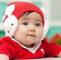 Boy Winter Newborn Hat Ear muff rabbit cap rabbit ear protection crochet cap rabbit baby hat headgear XKMZ55 EMS free