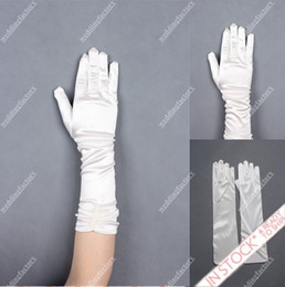 Wholesale Ruffled Gloves with Fingers White Bridal Wedding and Formal Gloves