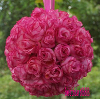 pomander - MIC Hot Pink Kissing Ball Pomander Flowers Inches Inches Flower Girl Ball Wedding Party Supplies