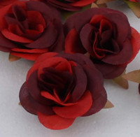 Wholesale Single Artificial Red Rose - MIC 50 Pcs lot Red Rose Artificial Flower for Making Flower Balls Tabble Scatters Craft 0509