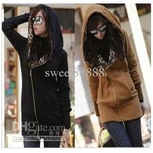 Jacket Korea Leopard Fleece Women's Hoodie Coat Sweatshirt Warm Outerwear Women's Thicken Coat Online with $16.76/Piece on Sweel88888's Store   DHgate.com
