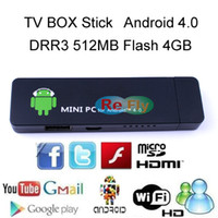 Wholesale Google Internet Android TV Box Stick Mini PC Android DDR3 MB GB Flash HDMI WiFi