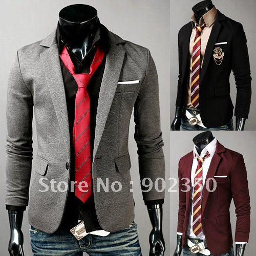Mens Fashion Suits Casual Casual Slim Suit Men