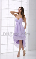 Chiffon Sexy Sleeveless 2013 New Arrival Real Photos Cheap Party Sexy Dress A-line V-neck Hi-Lo Beads Cocktail Dresses Gown