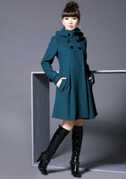 Wholesale Women s Fashion Wool Jacket Cashmere Winter Noble Long TRENCH Coat Color HOT SELL women s coat
