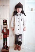 Wholesale Winter add wool hooded children s coat girl cotton padded clothes to keep warm cotton padded jacket
