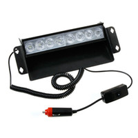 Wholesale FEDEX Free New Arrival LED Emergency Vehicle Warning Strobe Flash Light Yellow amp White