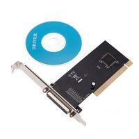 Wholesale Parallel Port DB25 Pin Printer I O PCI Card Adapter bit PCI bus