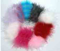Wool marabou puffs - marabou puffs feather flower hair accessories