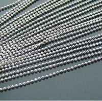 2.5mm chain - 100pcs tag ball key chain mm chain bead silvery mm DIY accessories