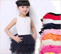 Wholesale Baby TuTu Dress Korea Style skirt Dresses Kids cute Skirt Girl s Pleated Skirt