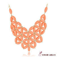 Wholesale 2013 New Fashion Bib Bubble Statement Necklace Chunky Chain Candy Resin Flower Choker Jewelry