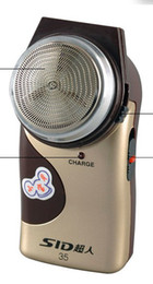 Wholesale Veneer Surface Rechargeable Electric Rotary Shaver
