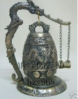 Wholesale Collectible Tibet wonderful carved brass bell