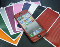 Wholesale Full Body Wrap Carbon Fiber Sticker Cover Protective Skin for apple iphone G th colors