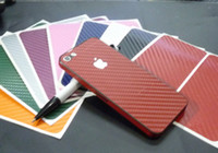 Wholesale Carbon Fiber Full Body Sticker Cover Protective Skin for apple iphone G th Multi color