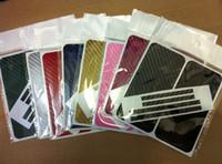 achat en gros de carbon sticker-Autocollant de fibre de carbone Full Body Cover peau de protection pour Multi-couleur iphone 5 5G 5ème