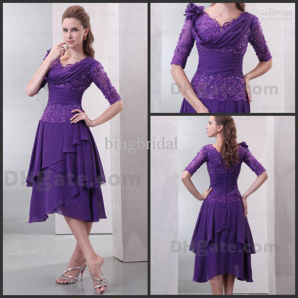 Mother Of The Bride Purple Dresses