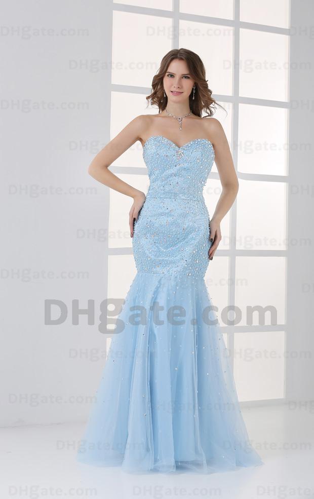 Sky Blue Mermaid Prom Dresses_Prom Dresses_dressesss