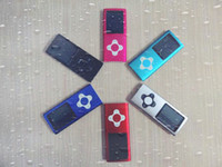 Wholesale portable slim TFT MP4 player with fm radio th Gen MP3 mp4 player build in memory GB flower shape button DHL