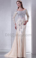 Wholesale 2014 No Risk Shopping Charming Evening Dress Sheath Off the shoulder Tulle Mother Of The Bridal Gown