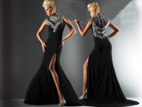 Reference Images prom dresses 2012 - 2012 New Sexy High Collar Stunning Prom Dresses Rhinestones Mermaid Beaded Evening Dresses C09