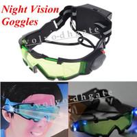 Wholesale Dark Night Vision Goggles with Flip out Lights ft Goggles GA1178