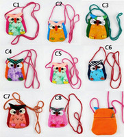 Wholesale Christmas Baby Owl Bags Baby Crochet Handbag Cute Owl Bag Cat Bag Girls Girl Kids Handmade Bags Kids