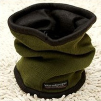 Wholesale double layer knit TurtleNeck Neck Warmer Beanie Hat Skull Cap in