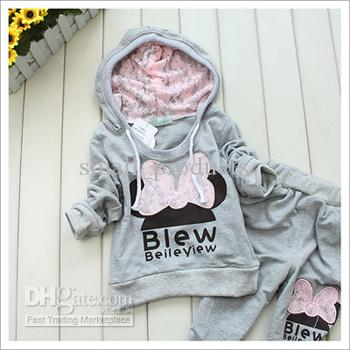Baby Girls Autumn Clothing Baby Suits Girls Wear Lovely Girls ...