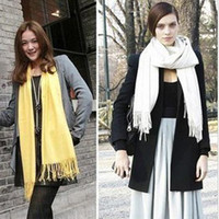Wholesale Pure colour Fashion Scarves Shawl Pashmina Scarf Acrylic l Wrap