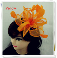Wholesale color avaliable sinamay hats nice fascinator hair accessories pieces MSF091