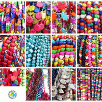 Wholesale multicolour Howlite Turquoise Mixed Spacer Beads fit bracelet