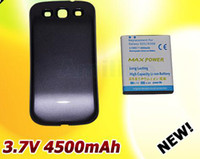 Wholesale 4500mAh Extended Battery for Samsung Galaxy S III S3 I9300 Pebble Blue Cover